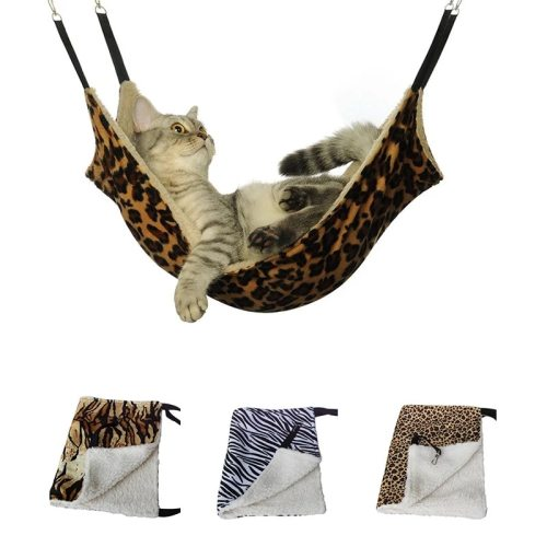 SUPREPET Hanging Cat Hammock Pet Supplies Cat Sleeping Bag Pet Cat Cage Breathable Double-sided Available Warm Cat Bed Mat
