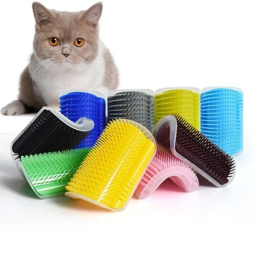 Self-Grooming Corner Brush and Massager for Cats