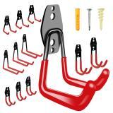 Garage Hooks - 12 Pack Wall Hooks Heavy Duty for Garage