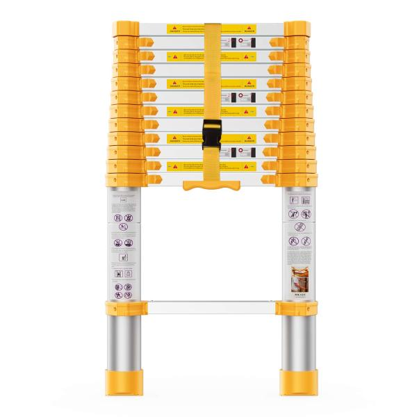 12.5FT Reinforced Telescoping Extension Ladder,