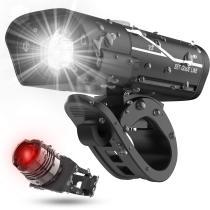 [Latest 2020] USB Rechargeable Super Bike Headlight and Back Light Set