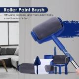 PAINT ROLLER BRUSH PAINTING HANDLE TOOL! - 5 PCS(ROLLER PAINT PRO +FLOCKED EDGER +CORNER PAD +RESTING TRAY +EASY-POUR-JUG)