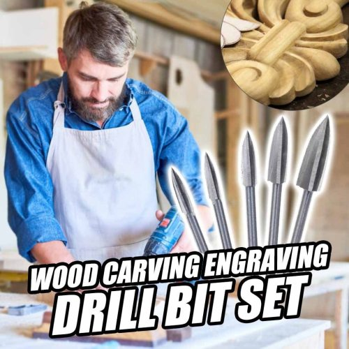 Wood Carving + Engraving Drill Bit Set