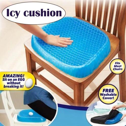 Car Elastic Gel Seat Cushion Honeycomb Shape Relieving Pain Non Slip Mat Flexible Health Care Pain Pad Car Sofa Sit Cushion