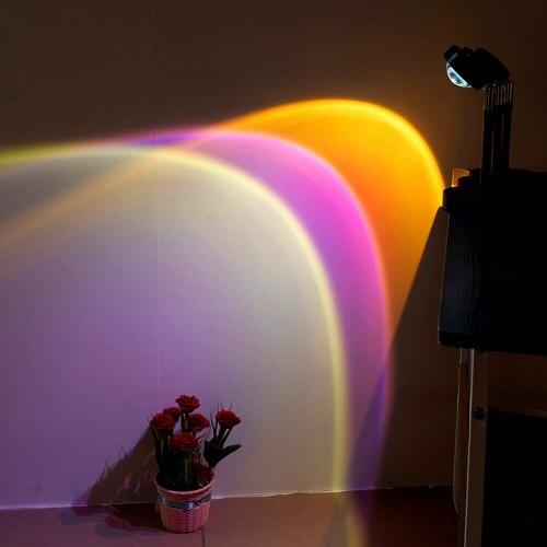 USB button rainbow sunset projector