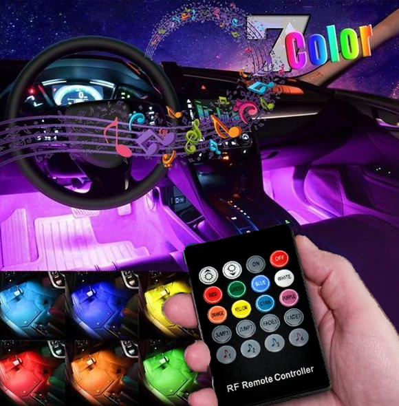 🔥50% OFF🔥Car Interior Ambient Lights- (Contains 4 light bars)