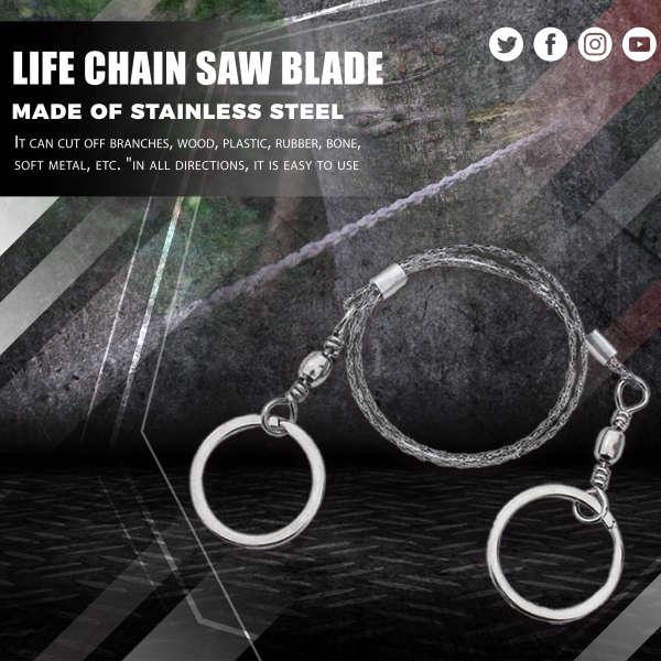 Life Chain Saw Blade Saw Blade, Emergency Portable Wire Saw Blade