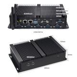 Dual Lan SIM card Slot RS232 COM LVDS Intel Core i5 4200U VGA HDMI Fanless Industrial Mini PC