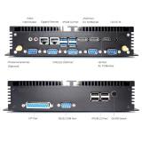Fanless Mini PC Intel core i5 8250U i7 8550U HDMI 2.0 DP EDP RS232/485 COM Industrial Dekstop Computer