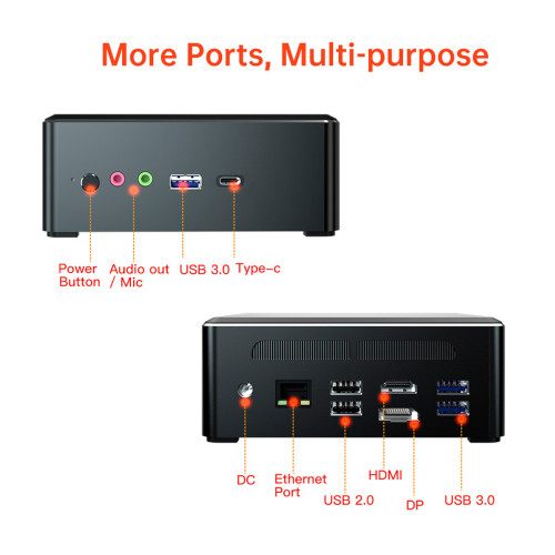AMD Ryzen 5 3550H Mini PC 4K HTPC mini pc Ryzen 7 2700U support Win10 pro Linux WiFi Type-C DP