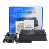 Fanless Industrial Mini PC RS485 COM LVDS Intel Celeron J4125 4 Core 4 Threads 2.00 GHz VGA HDMI support 3G/4G lower power