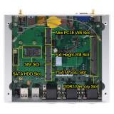 Low Power Industrial Mini Rugged PC Intel Lan Core i7 4500U I5 4258U 4300U 3G 4G Model RS232 485 COM Port Fanless ITX Computer
