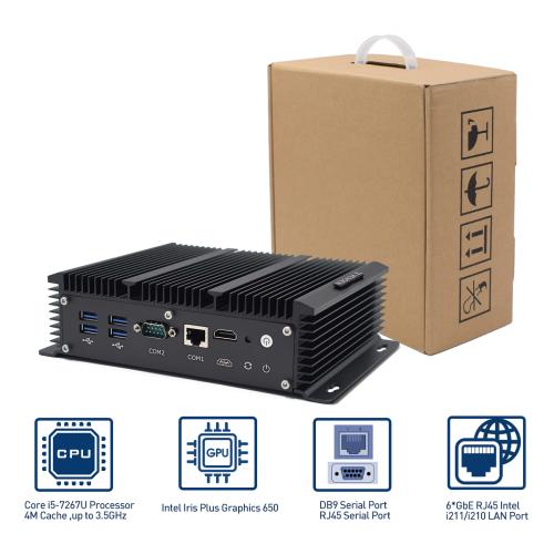 Firewall Router Mini PC Pentium 5045 Rugged Desktop Computer
