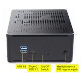 VENOEN S210H i9 10880H Type-C Desktop Office Mini PC with Kensington Lock