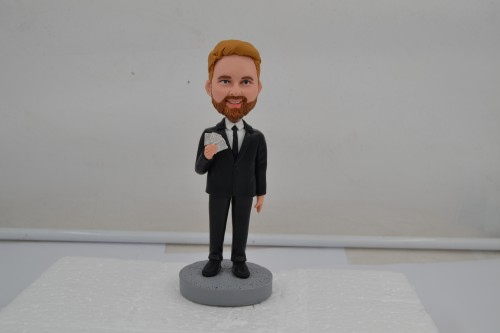 Fully customized single person Bobblehead to show your personal charisma.