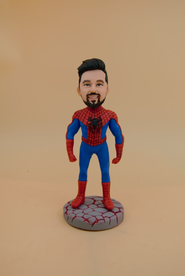Custom Bobbleheads:Spider Man-with great power comes great responsibility