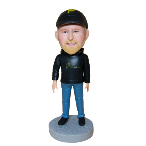 Custom bobblehead:A man with casual suit