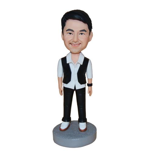 Custom bobblehead:A man wearing waistcoat