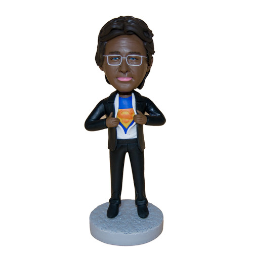 Custom bobblehead:A business man with a dream of being a Superman 2