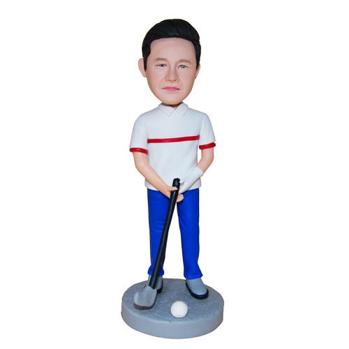 Custom bobblehead:Golfer Swinging Club