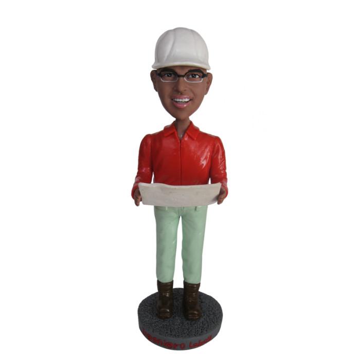 Custom bobblehead:Male engineer