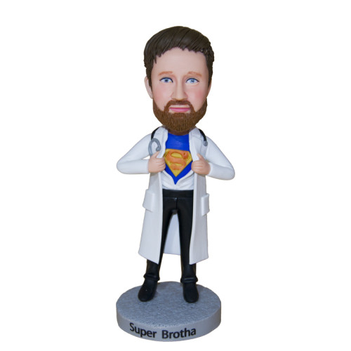 Custom Bobbleheads:Medical doctor with a dreaming of being a superman