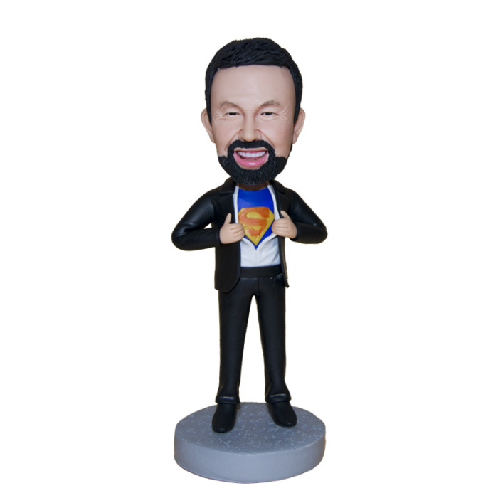 Custom Bobbleheads:Business man with a dreaming of being a superman