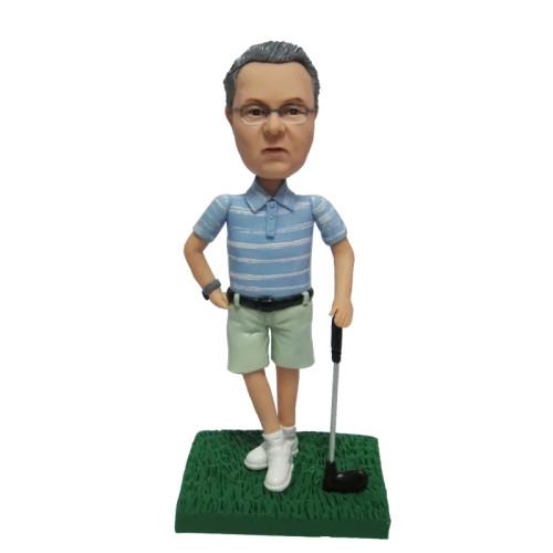 Custom Bobbleheads:Golfer Swinging Club 2