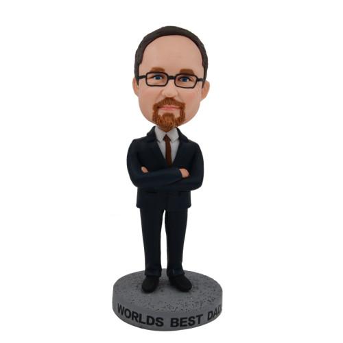 Custom Bobbleheads:Business man 12