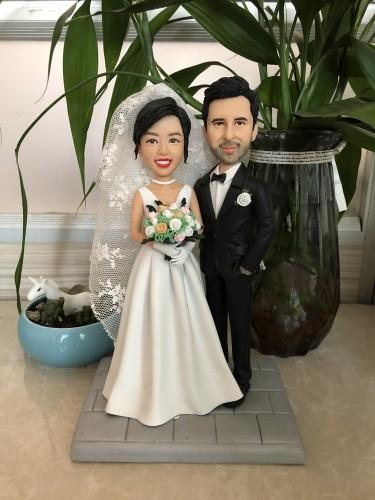 100% Custom bobbleheads:wedding custom bobbleheads