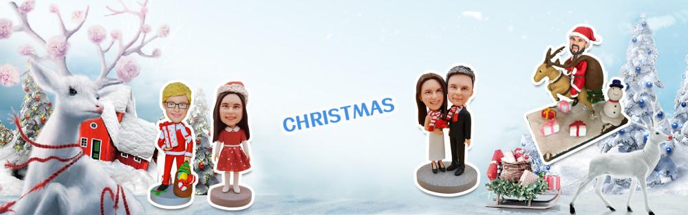 Christmas bobbleheads