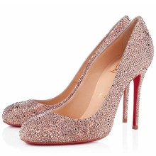 Christian Louboutin Fifi Strass 100mm Special Occasion Nude