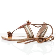 Christian Louboutin Hola nina Flat Sandals Brown