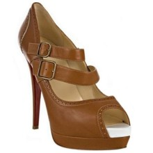 Christian Louboutin Luly 140mm Mary Jane Pumps Brown