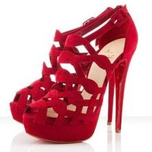 Christian Louboutin Larissa Plato 140mm Sandals Red