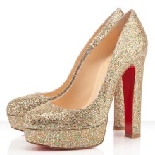 Christian Louboutin Bianca 140mm Platforms Multicolor