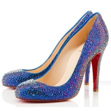 Christian Louboutin Fifi Strass 100mm Special Occasion Blue