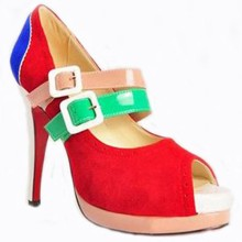 Christian Louboutin Lillian 140mm Mary Jane Pumps Multicolor