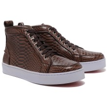 Christian Louboutin Louis Python Sneakers Brown