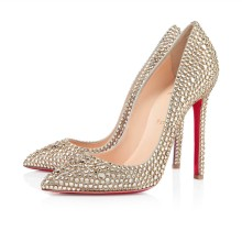 Christian Louboutin Pigalle Strass 120mm Special Occasion Gold