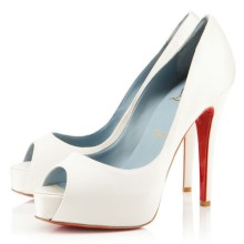 Christian Louboutin Hyper Prive 120mm Special Occasion Off White