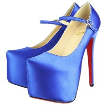 Christian Louboutin Lady Daf 160mm Mary Jane Pumps Blue