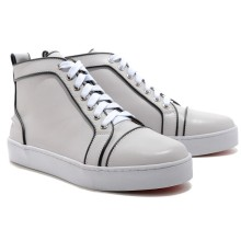 Christian Louboutin Louis Jeweled Sneakers White
