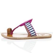 Christian Louboutin Hola nina Flat Sandals Parme