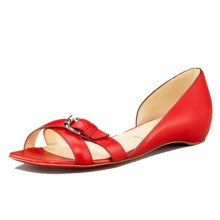 Christian Louboutin Atalanta Flat Sandals Red