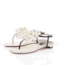 Christian Louboutin Vaudou Flat Sandals Ivory