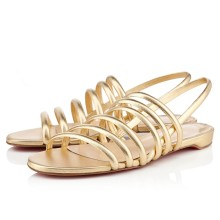 Christian Louboutin Vildo Flat Sandals Gold