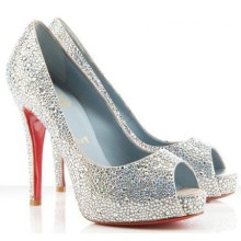 Christian Louboutin Very Riche 120mm Special Occasion Silver