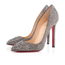 Christian Louboutin Pigalle Strass 120mm Special Occasion Hematite