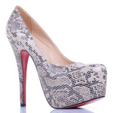 Christian Louboutin Daffodile Lace 160mm Platforms Grey